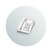Landline phone business concept