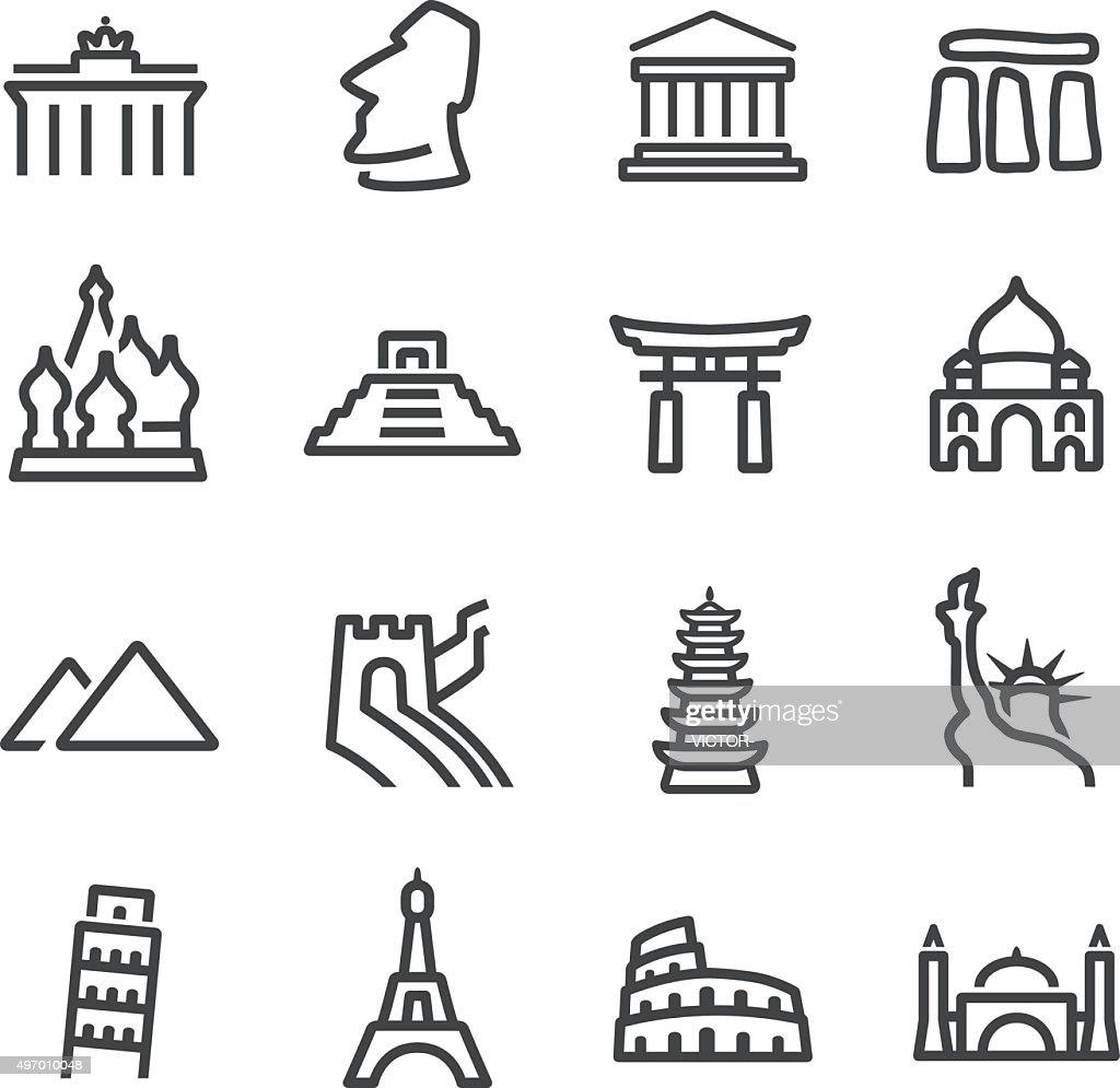 Landmark Icons - Line Series