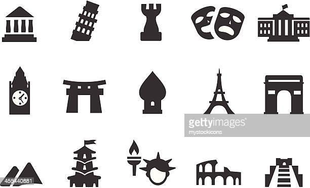 bildbanksillustrationer, clip art samt tecknat material och ikoner med landmark icons - religiös symbol