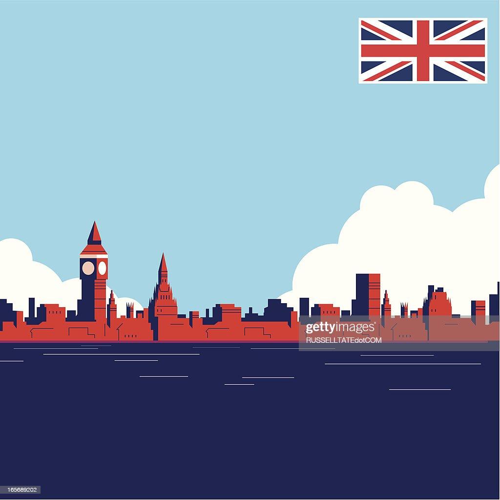 UK Landmark THAMES : Stock Illustration