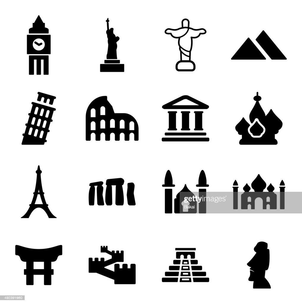 Landmarks Of The World Icons