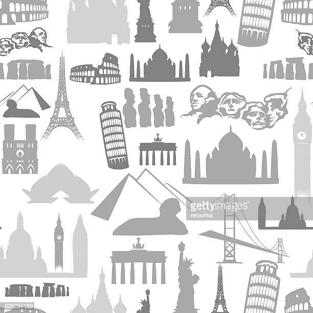 ilustrações, clipart, desenhos animados e ícones de marcos padrão sem emendas - arranjar