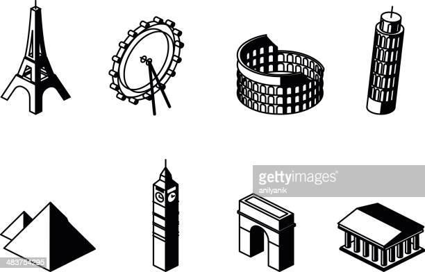 ilustrações, clipart, desenhos animados e ícones de marcos - partenão acrópole