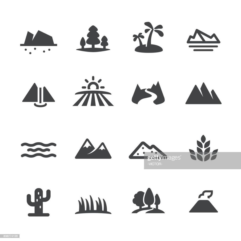 Landscape and Landform Icons - Acme Series : stock illustration