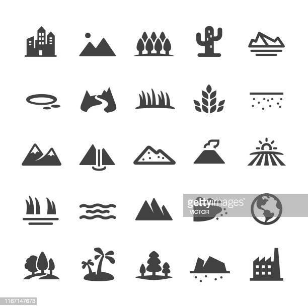 風景と地形のアイコン - スマートシリーズ - 河川点のイラスト素材/クリップアート素材/マンガ素材/アイコン素材