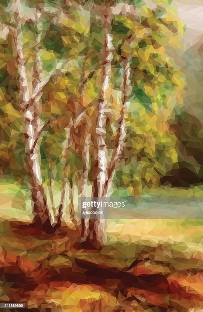 Landscape, Autumn Forest,