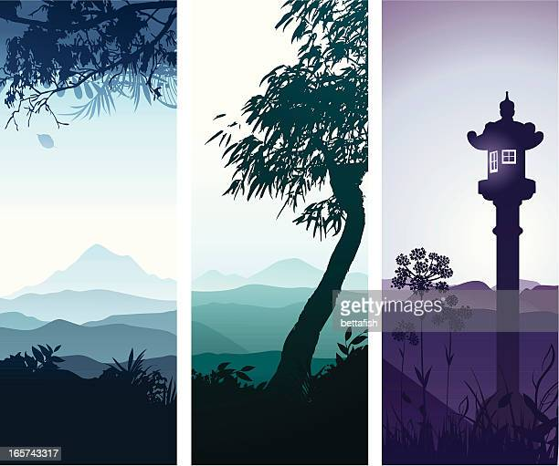 landscape banners - tuscany stock illustrations, clip art, cartoons, & icons