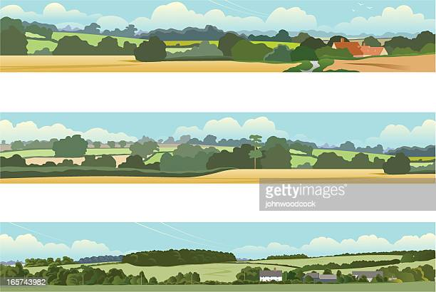 landscape banners - panoramic stock illustrations