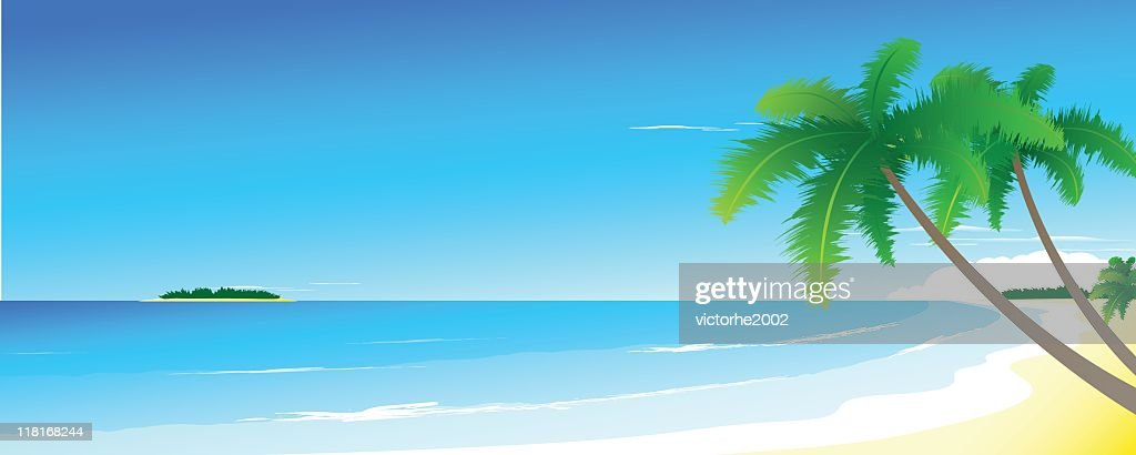 landscape beach vector art getty images