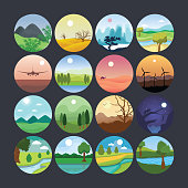 Landscape Illustration Icon 5