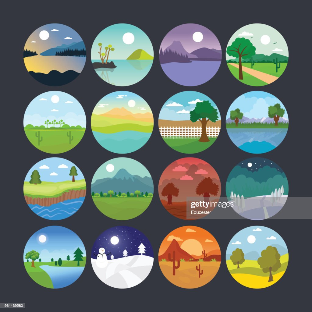 Landscape Illustration Icon 9