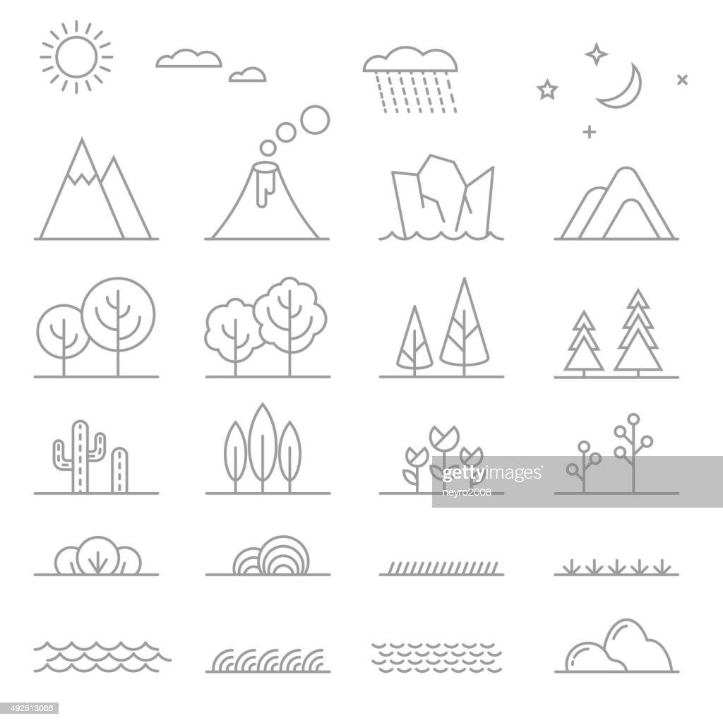 Landscape line elements