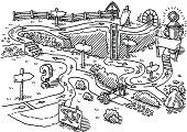 Landscape Path Success Concept Drawing