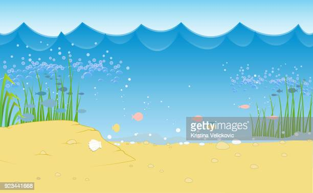 ilustraciones, imágenes clip art, dibujos animados e iconos de stock de paisaje  - lago