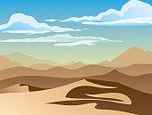 Landscape with desert