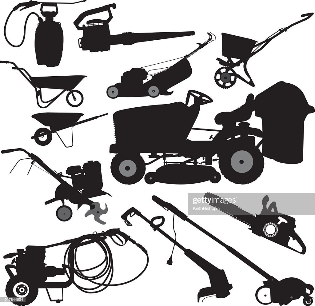 Landscaping Equipment, Yard Work Tools : stock illustration