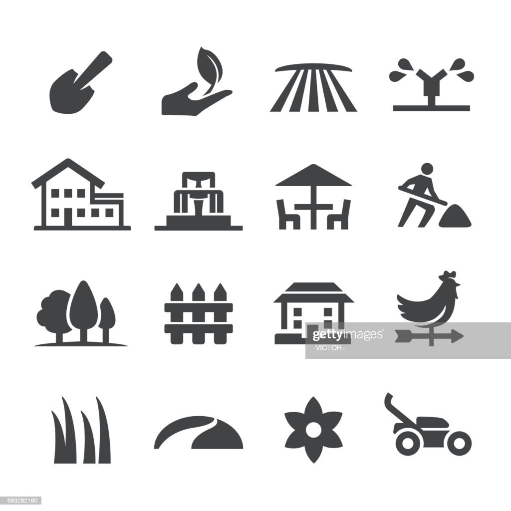 Landscaping Icons - Acme Series : stock illustration