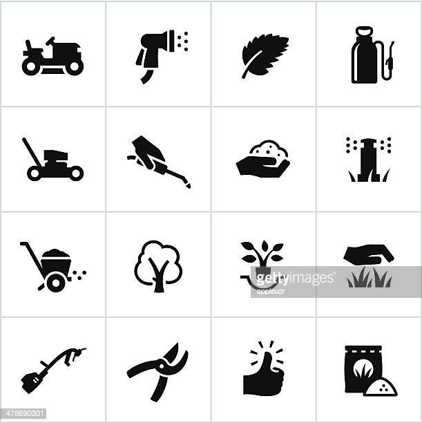 landscaping icons - landscaper stock illustrations, clip art, cartoons, & icons