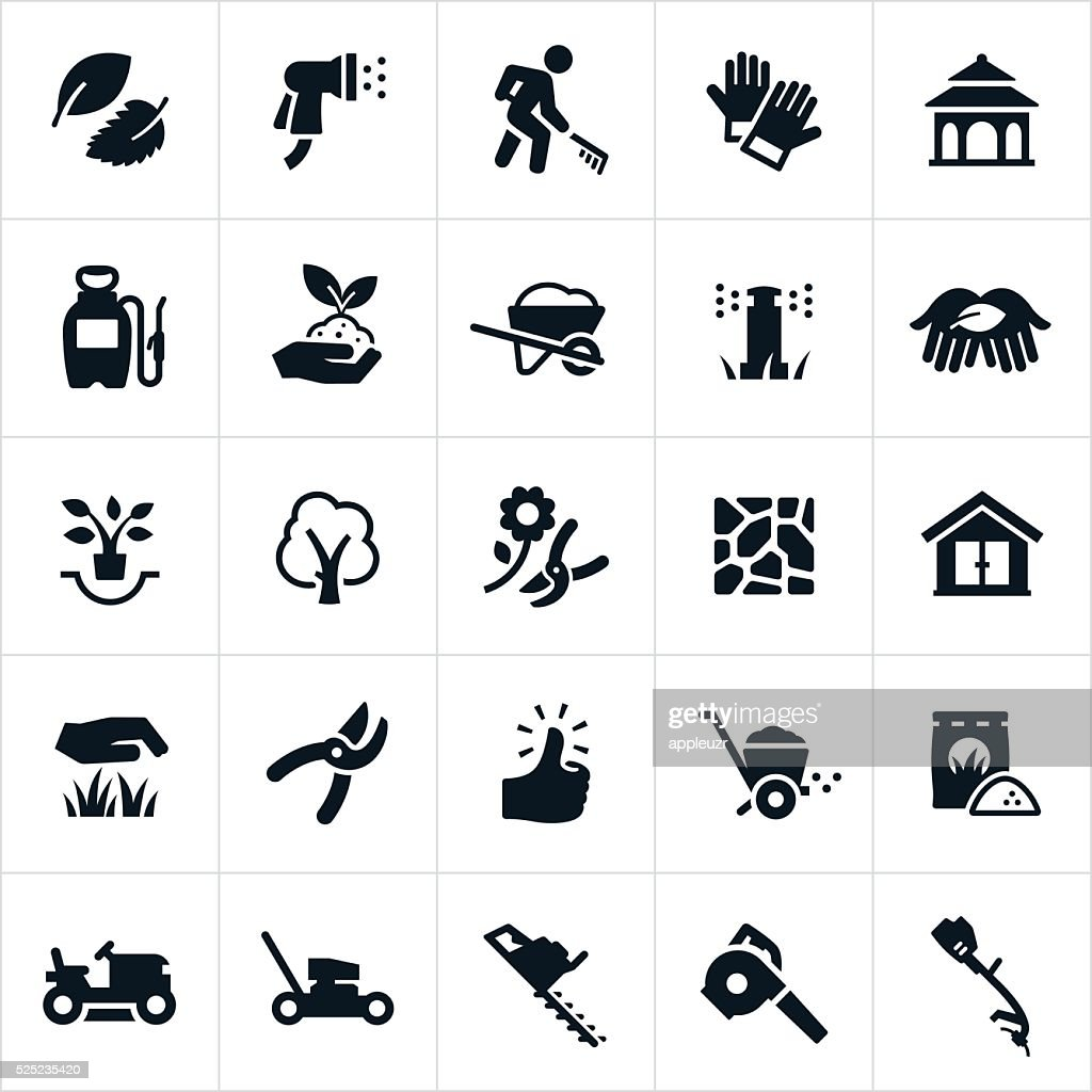 Landscaping Icons : stock illustration