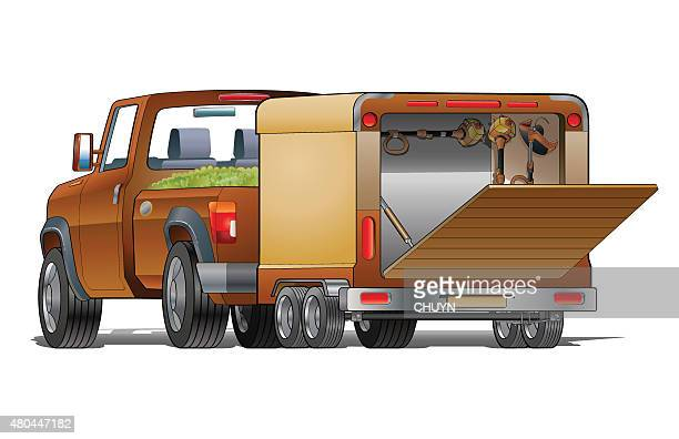 landscaping truck - landscape gardener stock illustrations, clip art, cartoons, & icons