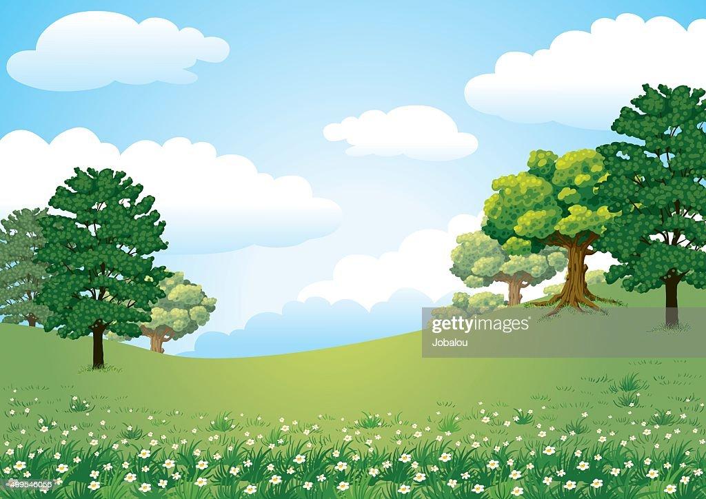 Landspace Green Nature : Stock Illustration