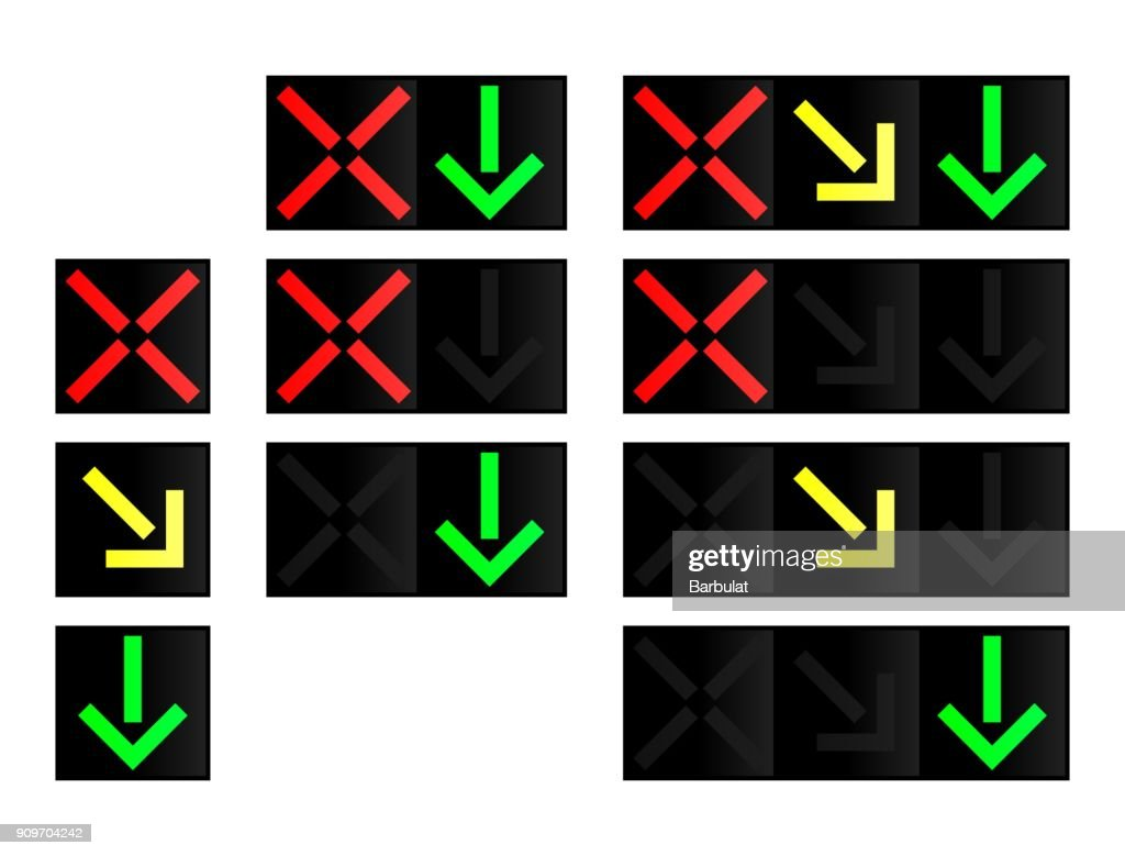 Lane control lights