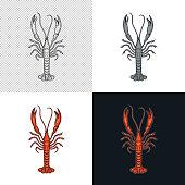 Langoustine. Crustaceans. Seafood.