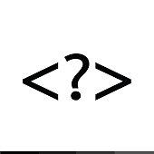 Language HTML icon , Progrmming code icon Illustration design