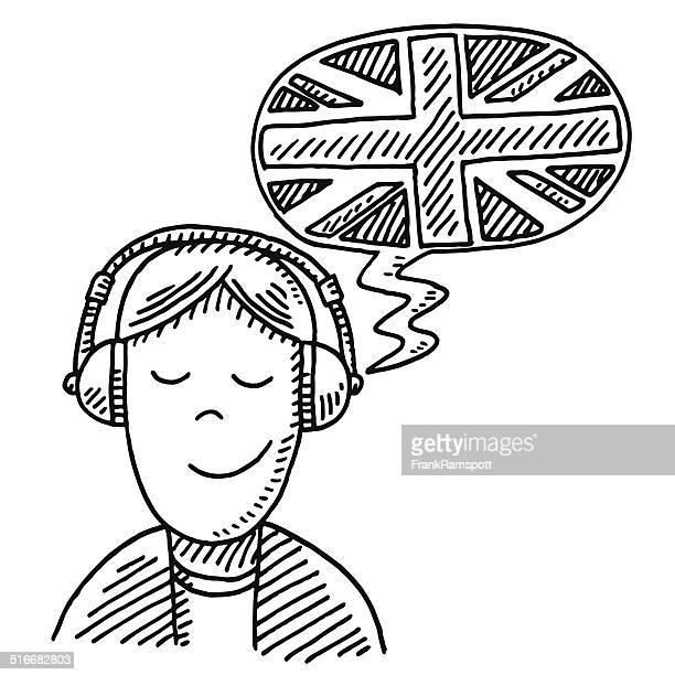 Illustrazioni e cartoni animati stock di traduzione getty images - Cuffie traduzione ...