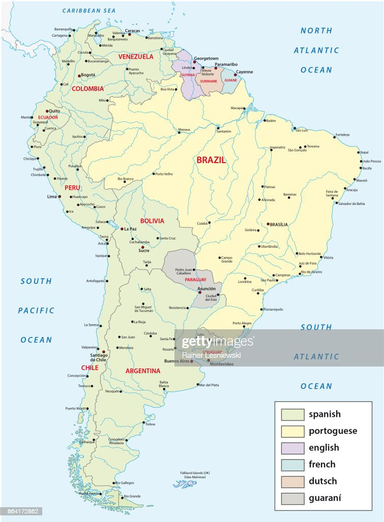 languages map of south america