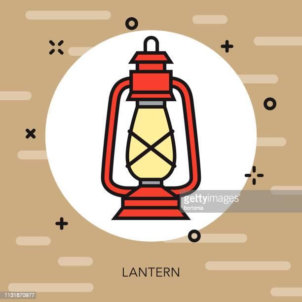 lantern camping icon - lantern stock illustrations