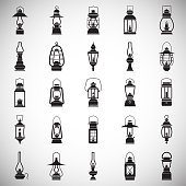 Lantern icons set on white background for graphic and web design. Simple vector sign. Internet concept symbol for website button or mobile app.