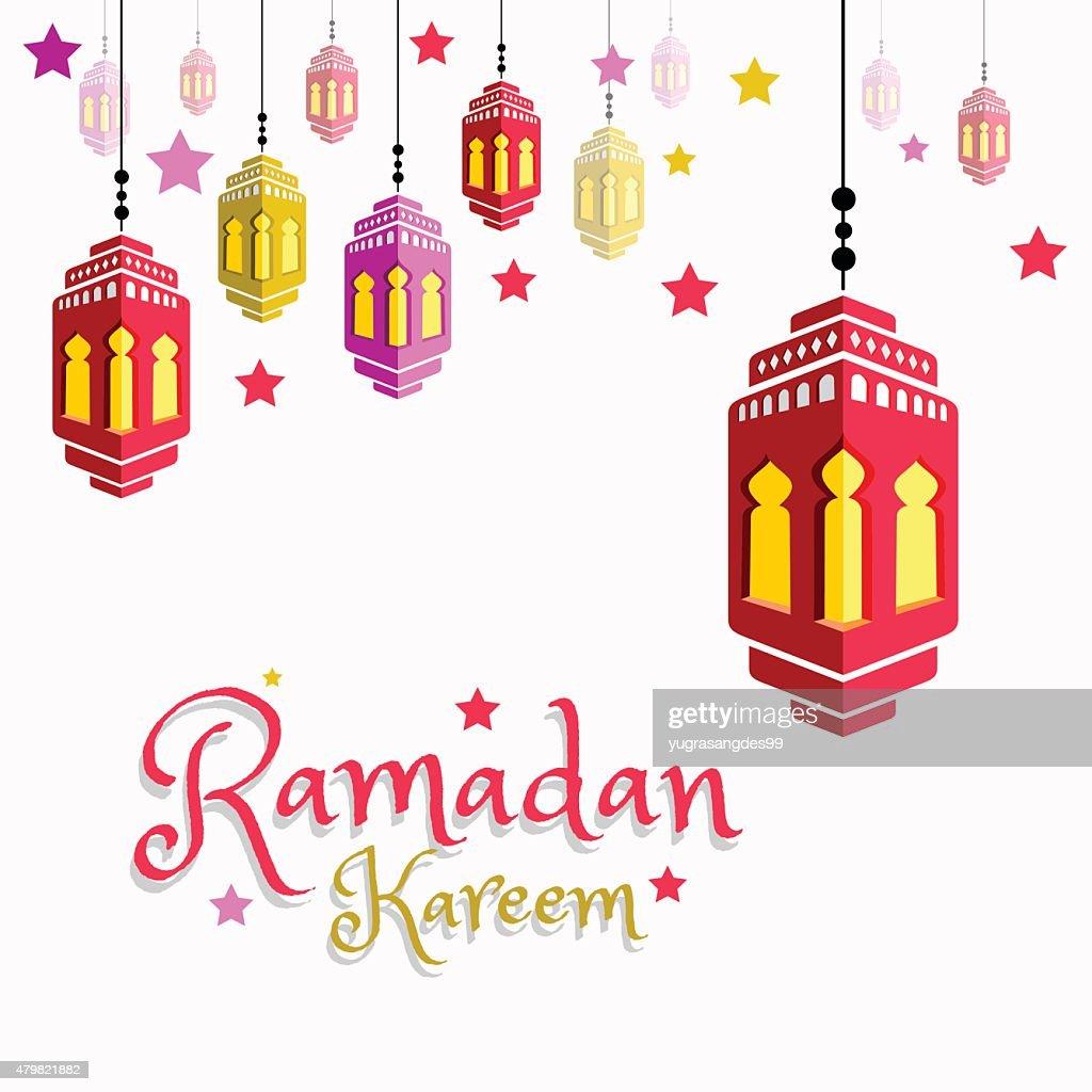 Lantern Illustration for Ramadan Kareem
