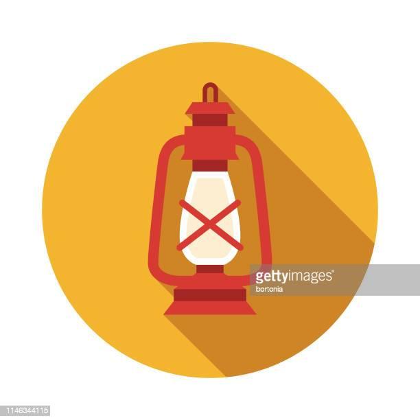 lantern nautical flat design icon - lantern stock illustrations