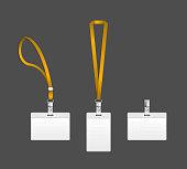 Lanyard, name tag holder end badge templates