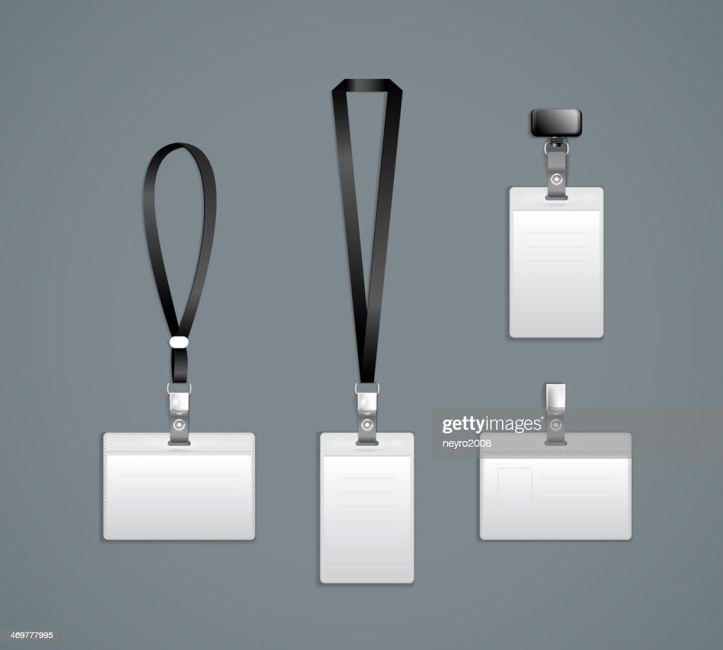 Lanyard Retractor End Badge Templates Vector Art   Getty Images