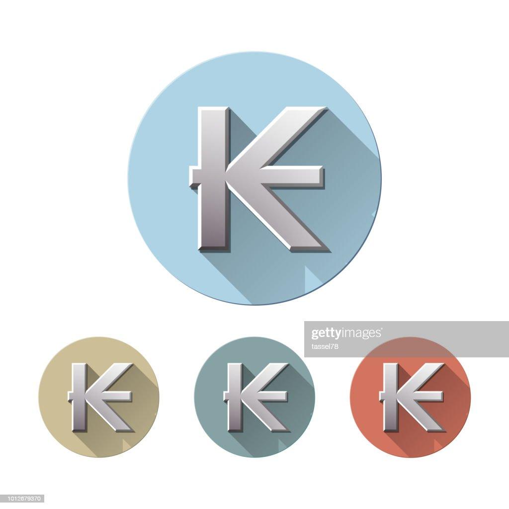 Laos kip currency symbol