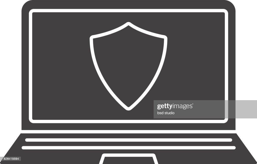 Laptop Antivirus Program Icon Stock Illustration - Getty Images