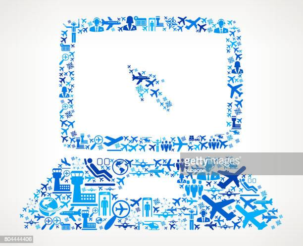 Laptop  Aviation and Air Planes Vector Graphic