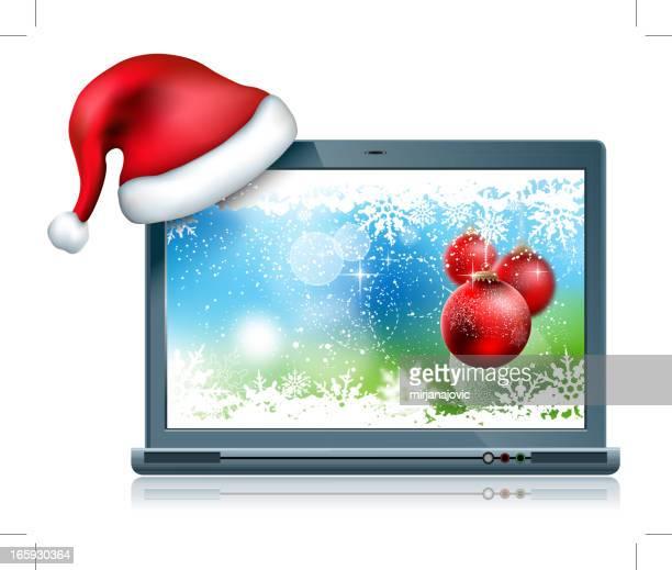 Laptop  Christmas Background