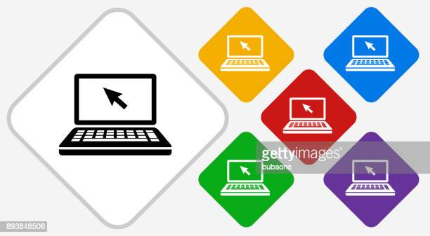 Laptop Color Diamond Vector Icon