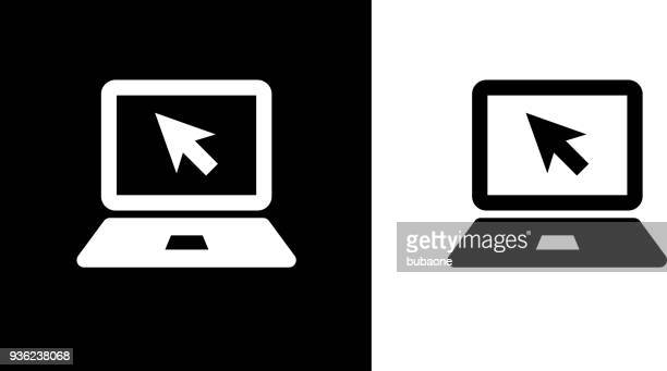 laptop computer icon - image technique stock illustrations