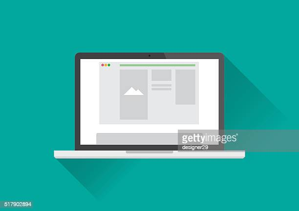 laptop computer - clip art stock illustrations