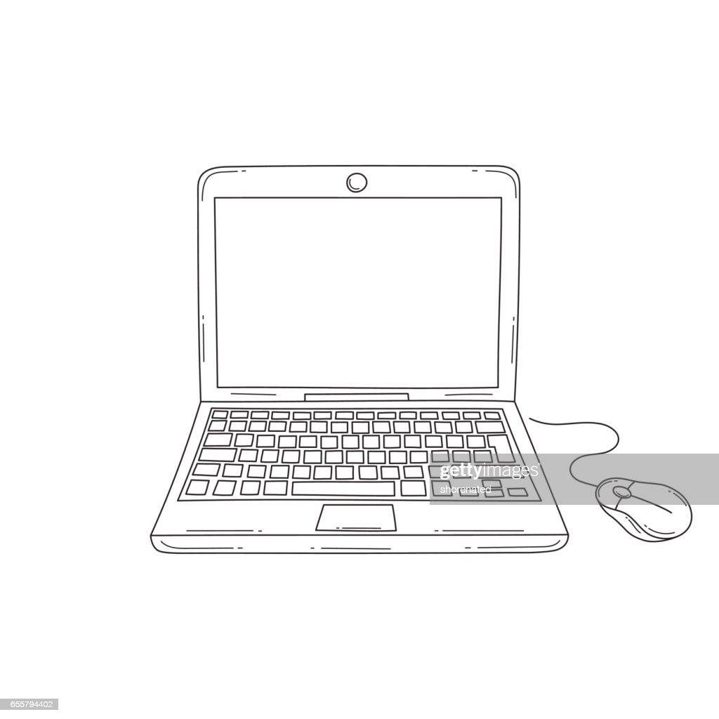 Laptop computer vector illustration