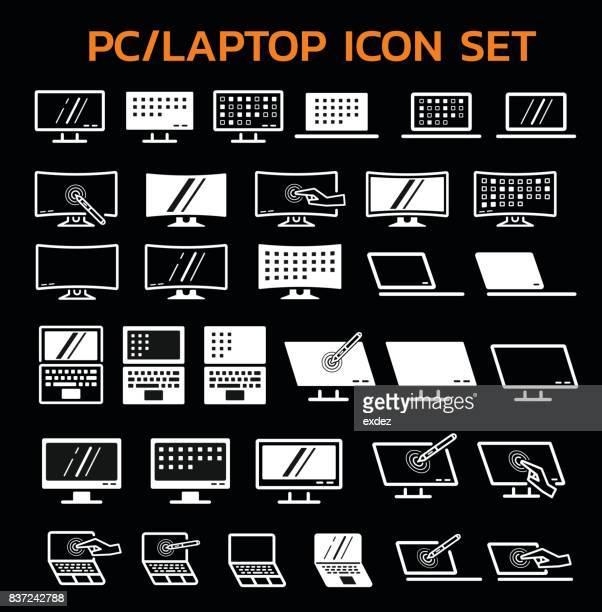illustrations, cliparts, dessins animés et icônes de écran de pc portable - écran numérique