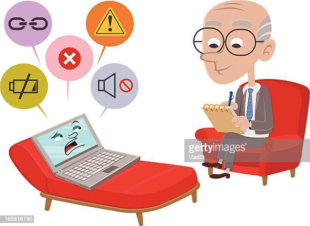 Laptop goes to psychiatrist