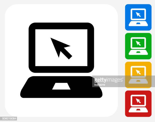 Laptop Icon Flat Graphic Design