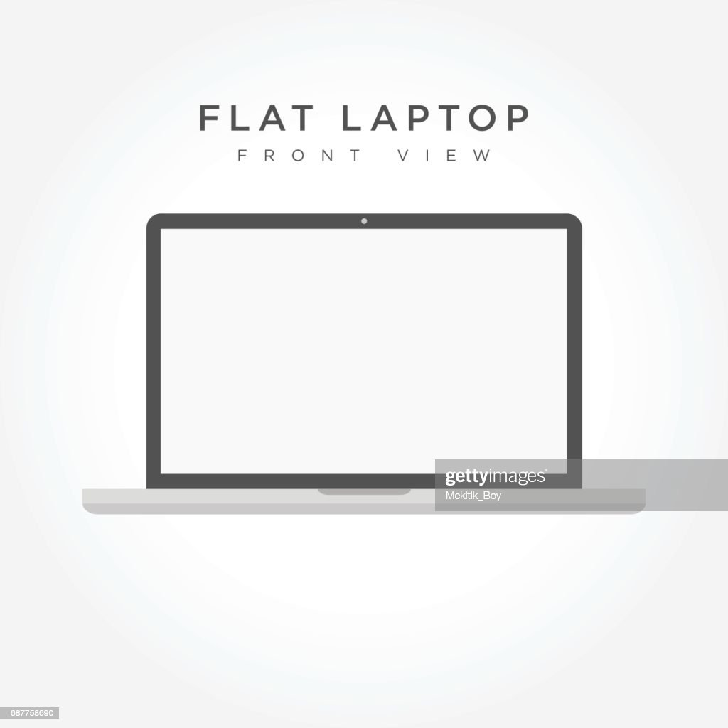 Laptop icon simple design