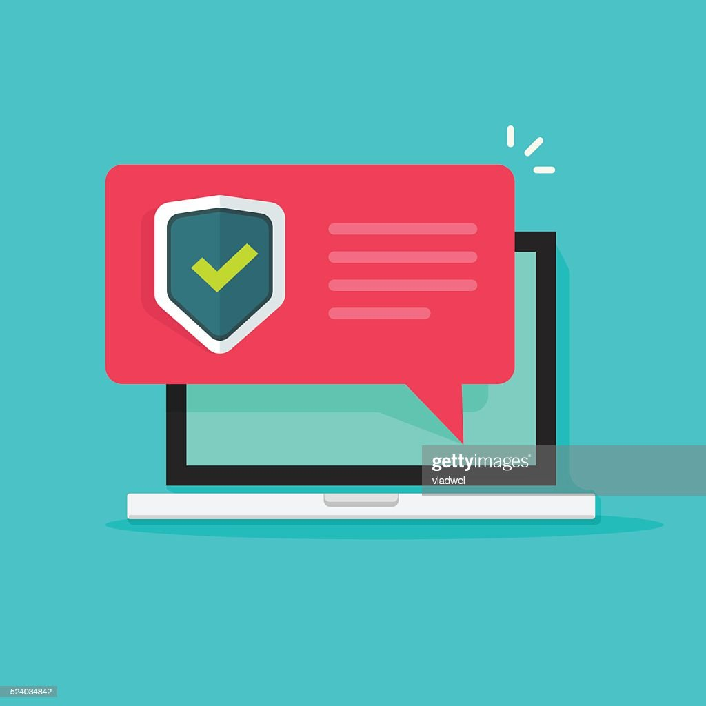 laptop internet security concept vector illustration isolated