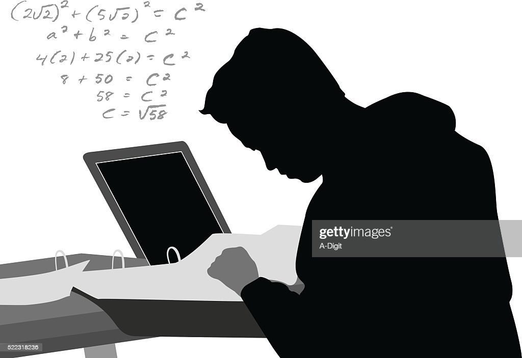 Laptop Math Equation : stock illustration